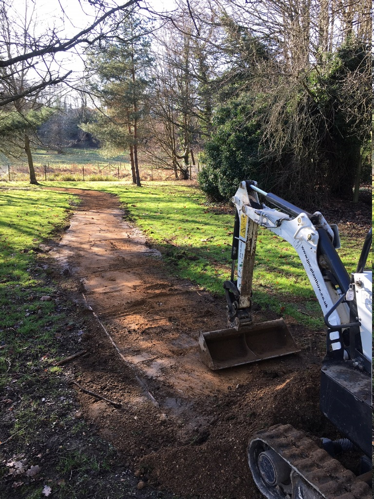 Commercial landscaping civil landscaping new path Hertfordshire