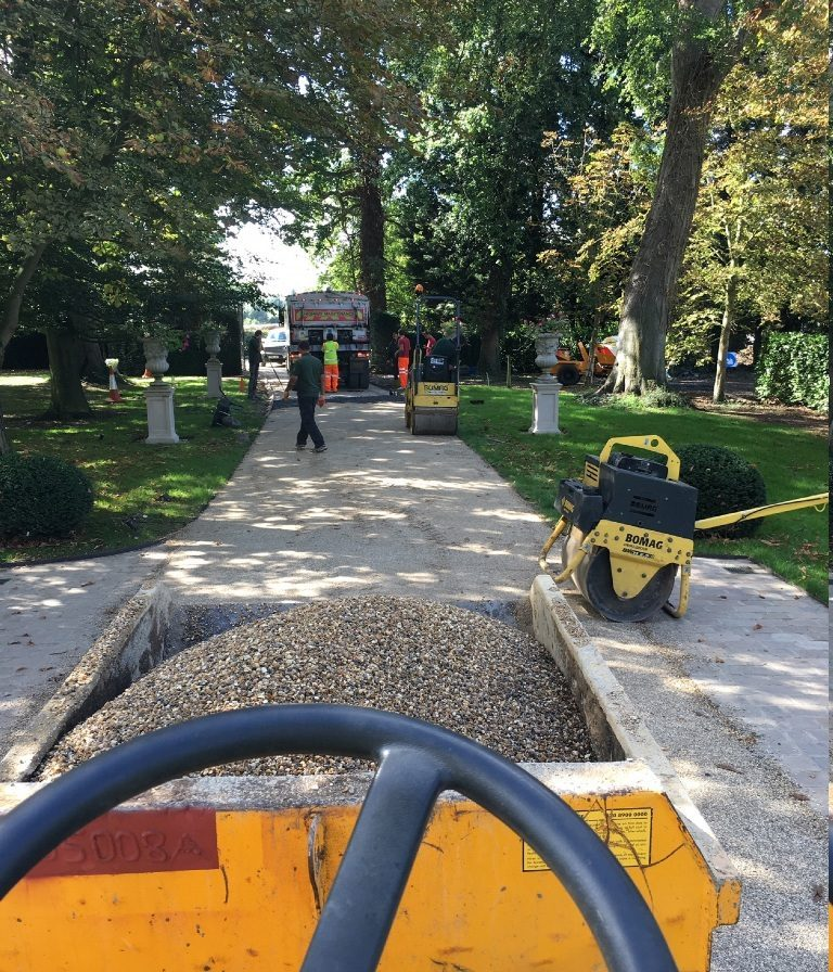 Domestic hard landscaping driveway resurfacing Essex