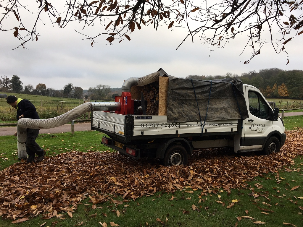 Large-scale leaf clearance grounds maintenance hertfordshire