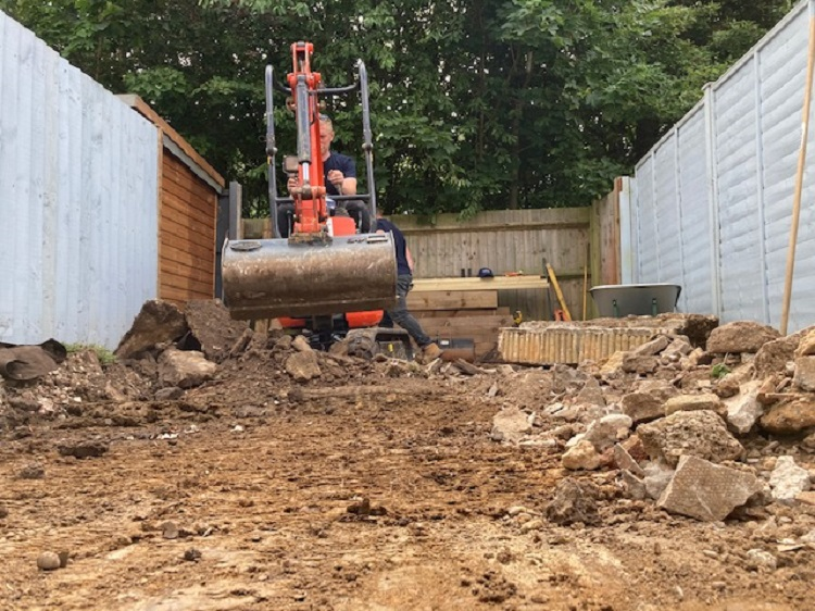 Small garden groundwork