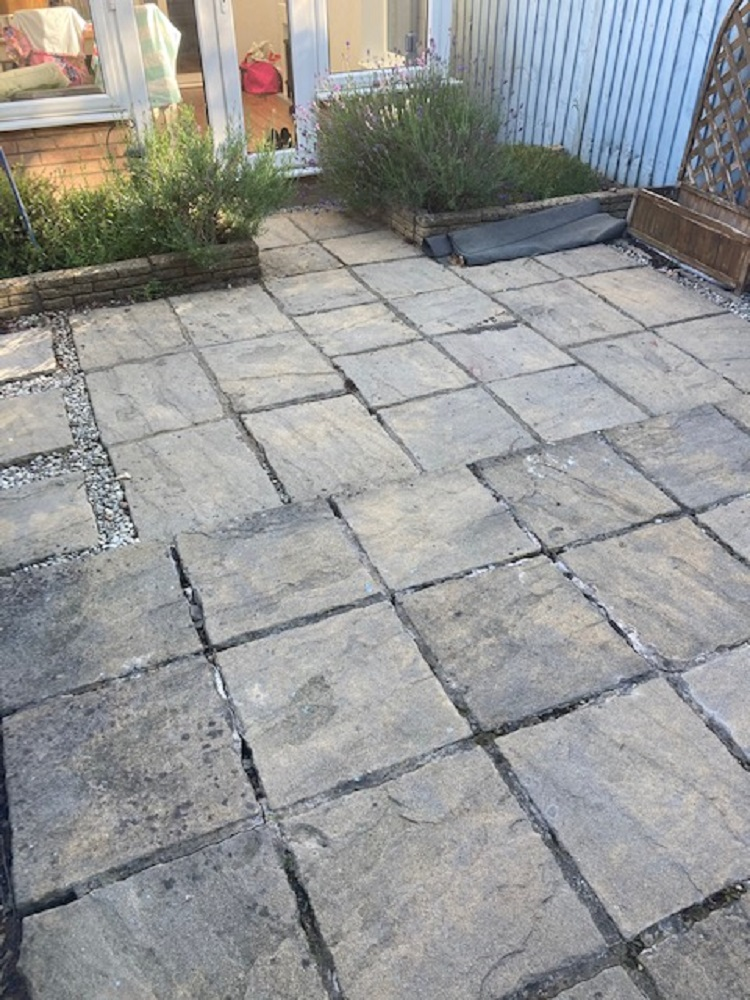 Small garden redesign before