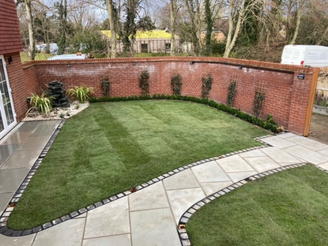 Stevenage - Garden transformation with lighting after